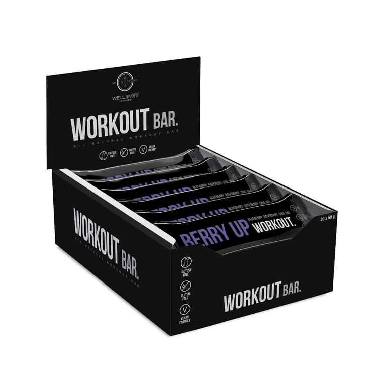 BerryUp Workout Bar 50 g - Box 50 g x 20 st