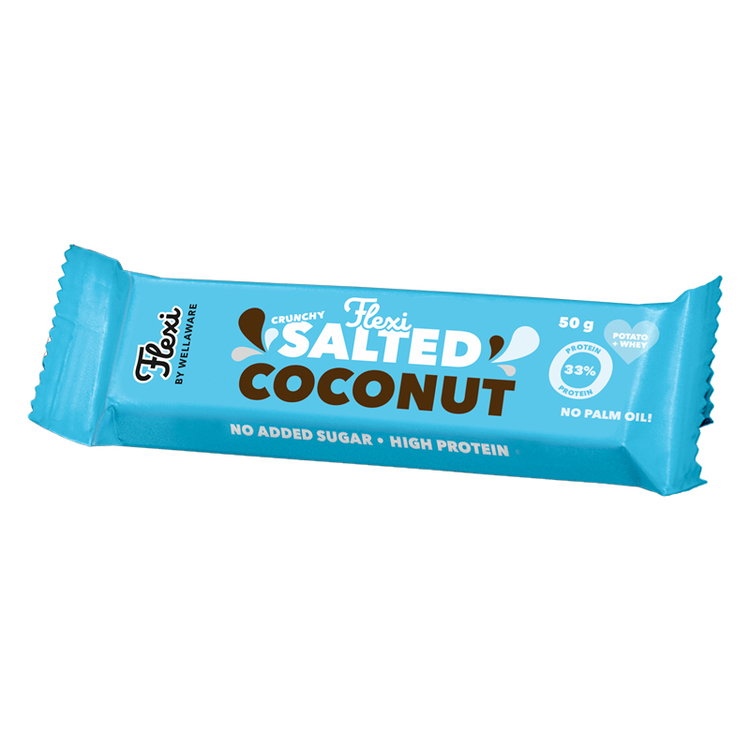 Flexi Proteinbar Salted Coconut 50 g – LEV. 10 dec