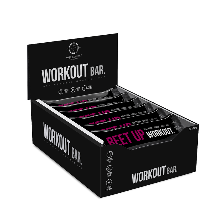 BeetUp Workout Bar 50 g - Box 50 g x 20 st