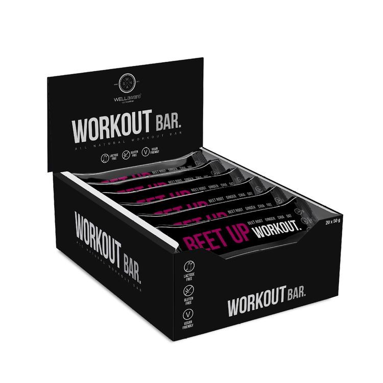 BeetUp Workout Bar 50 g - Box 50 g x 20 st