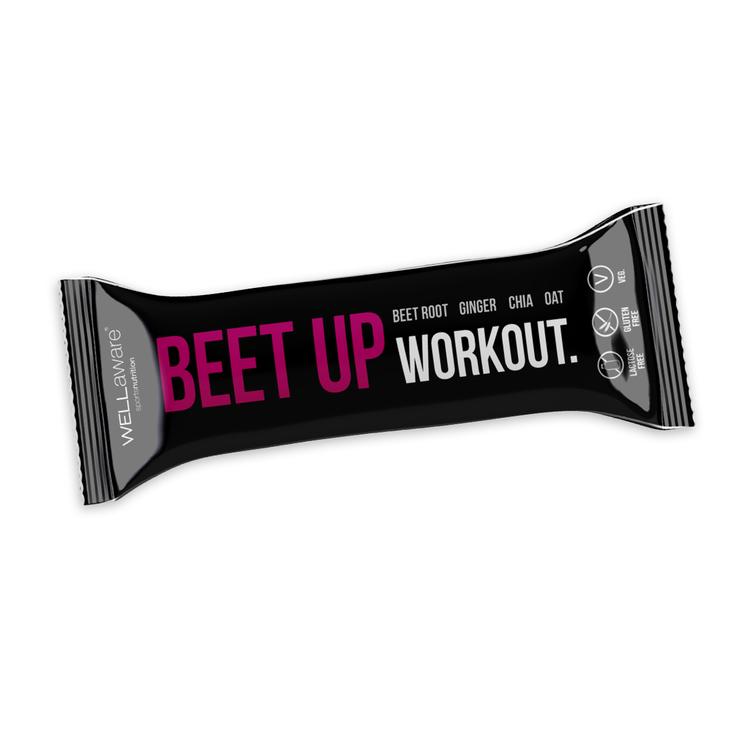 BeetUp Workout Bar 50 g - Veg. Glutenfri. Laktosfri.