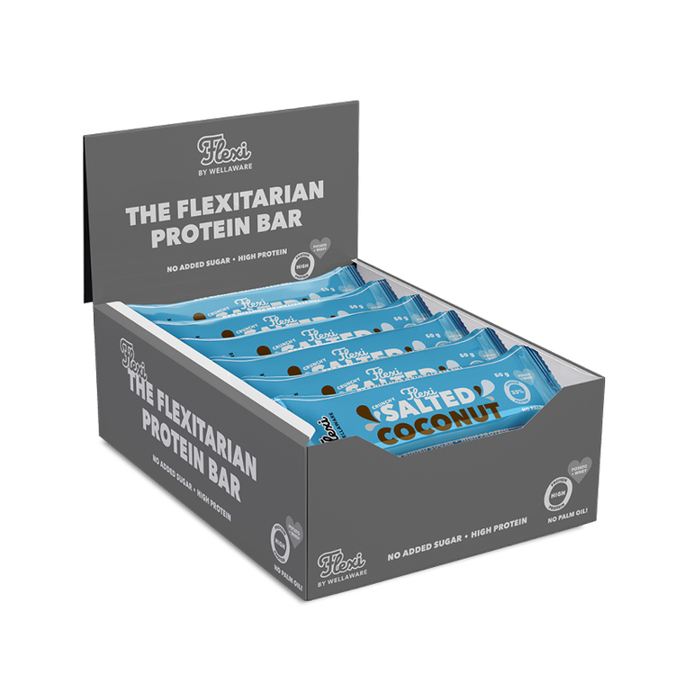 Flexi Proteinbar Salted Coconut 50 g – Box 50 g x 20 st