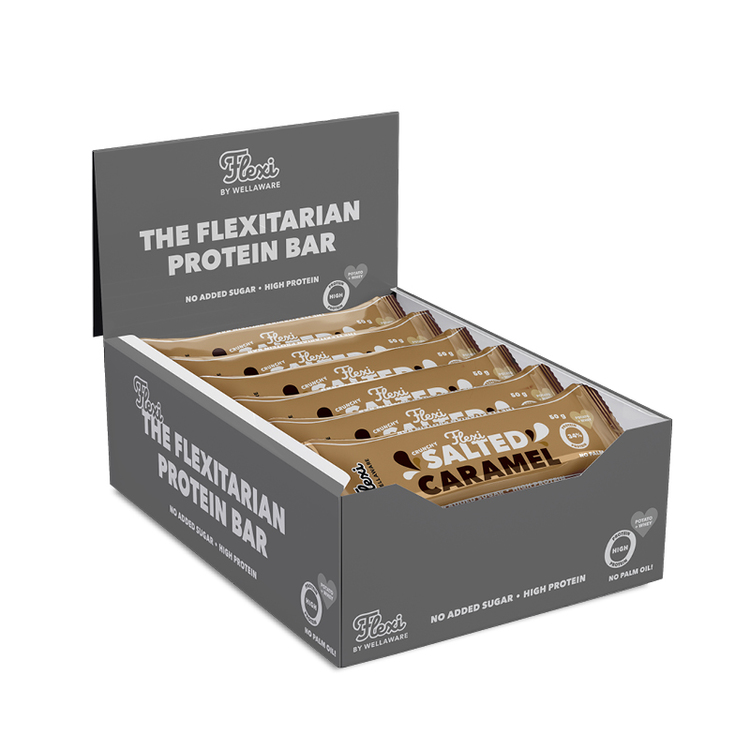 Flexi Proteinbar Salted Caramel 50 g – Box 50 g x 20 st