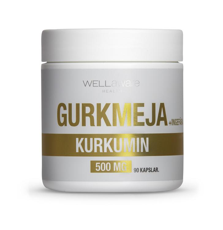 WellAware Gurkmeja-/Ingefärakapslar - 90 st 500 mg