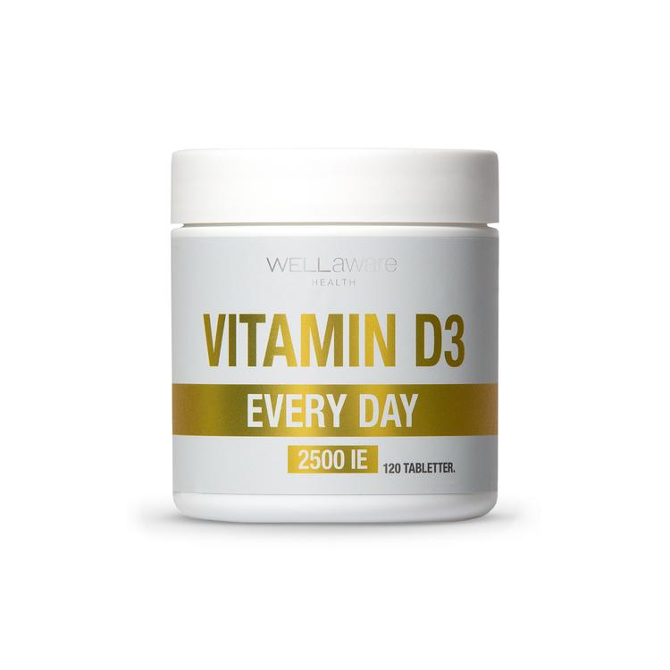 Vitamin D3 2500 IE - 120 minitabletter