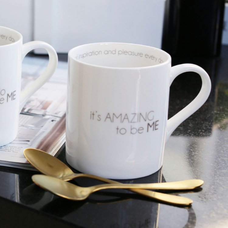 I LOVE DESIGN mugg It´s AMAZING to be ME