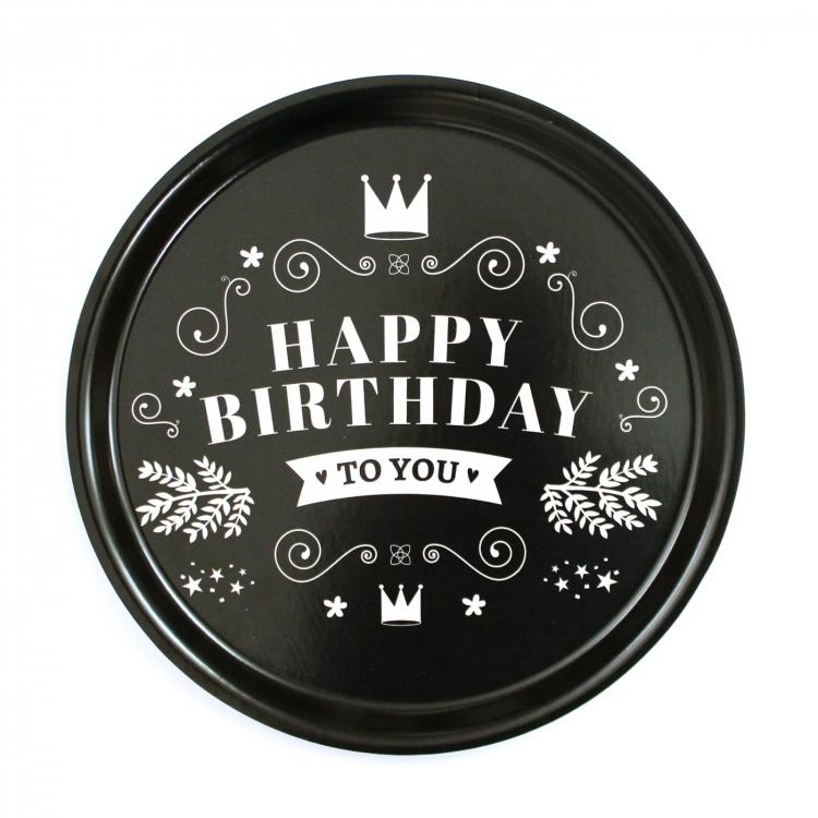 Bricka Happy birthday I LOVE DESIGN