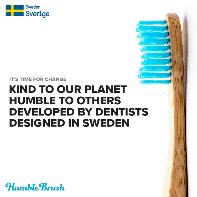 Tandborste barn blå HUMBLE BRUSH