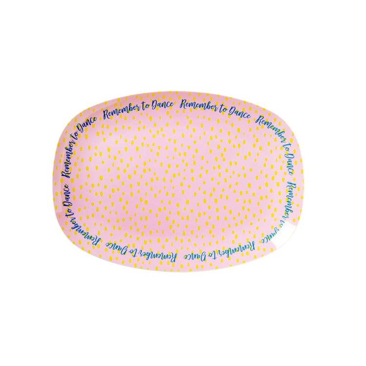 Tallrik liten oval raindot-RICE