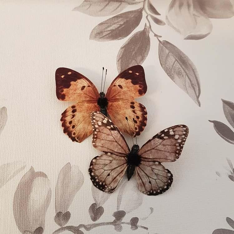 Fjärilar brun