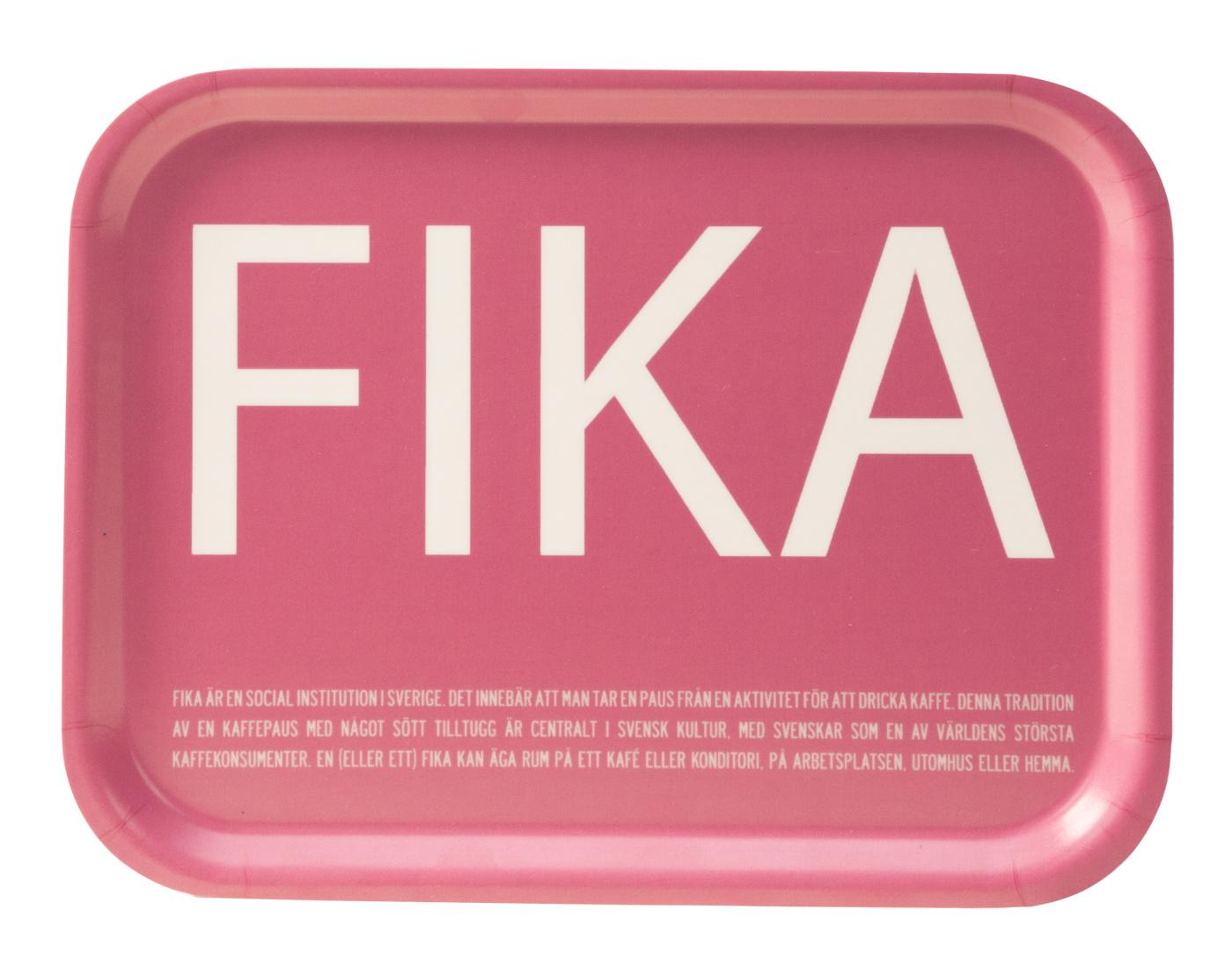 Bricka rosa FIKA