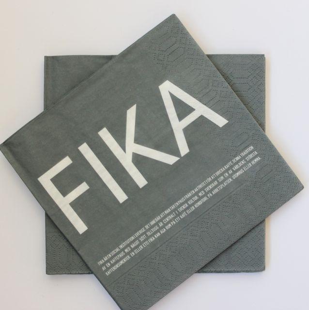 FIKA servett grå