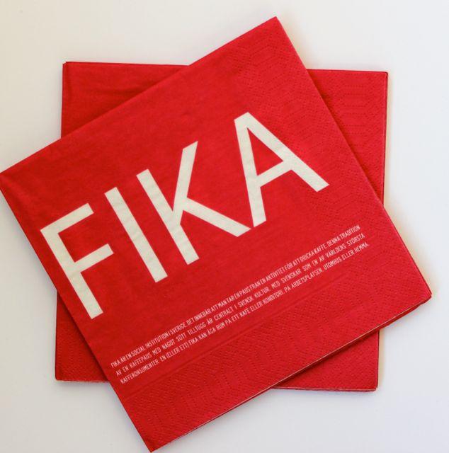 FIKA servett röd