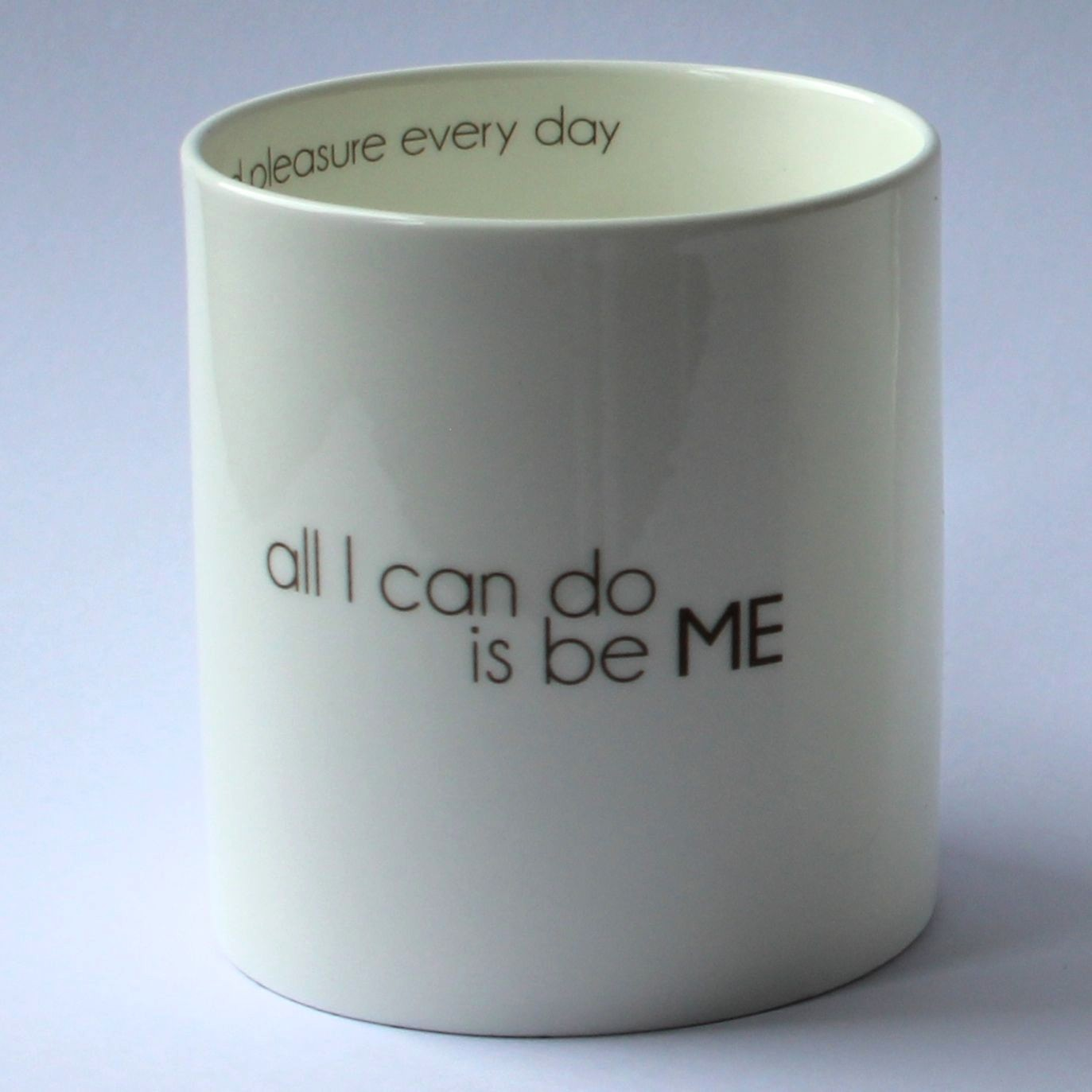 I LOVE DESIGN mugg ...to be ME