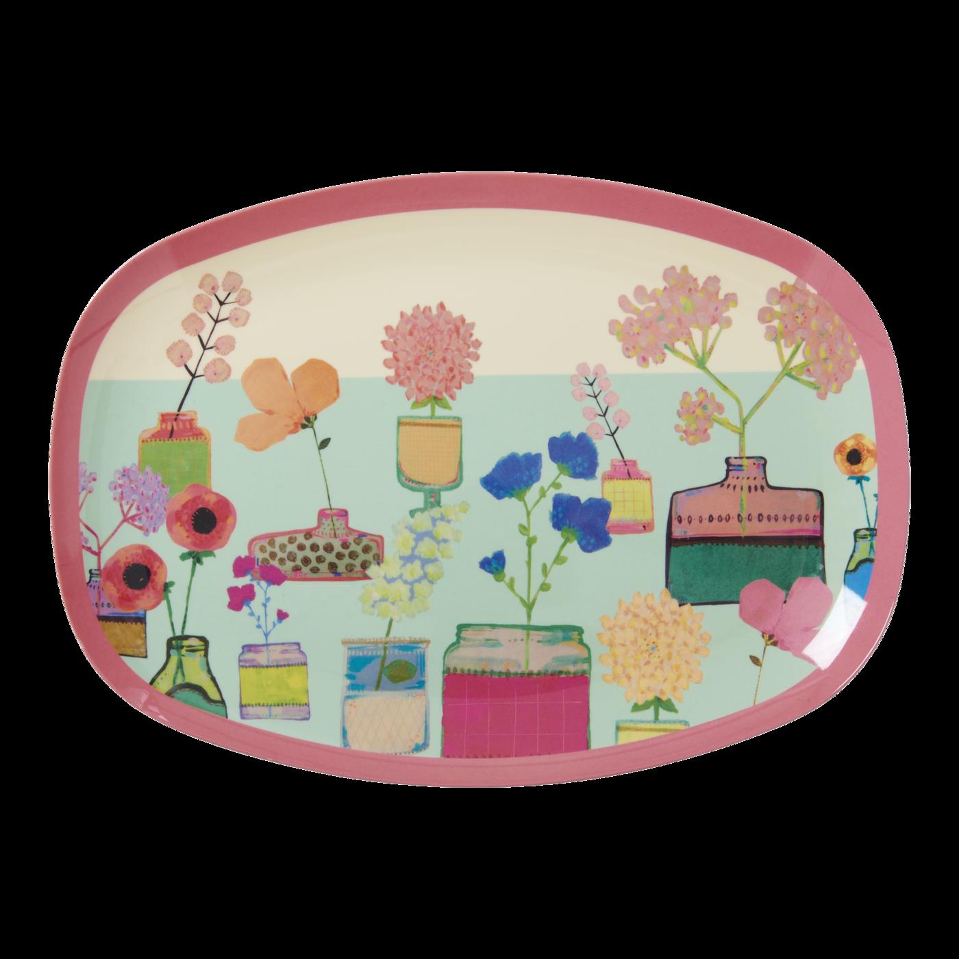 Bricka vintage blommor-RICE