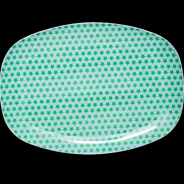 Tallrik gröna stjärnor-RICE