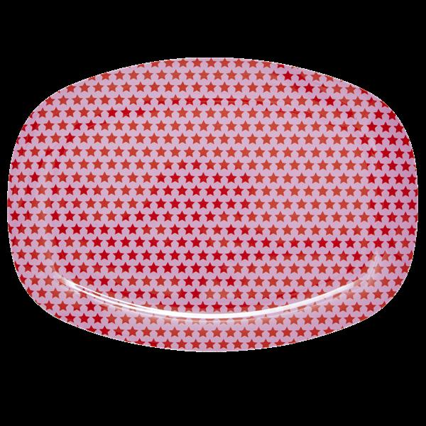 Rice bricka rosa stjärnor