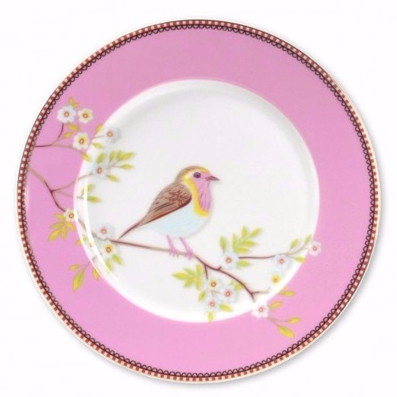 Tallrik Early Bird 21 cm rosa-PIP STUDIO