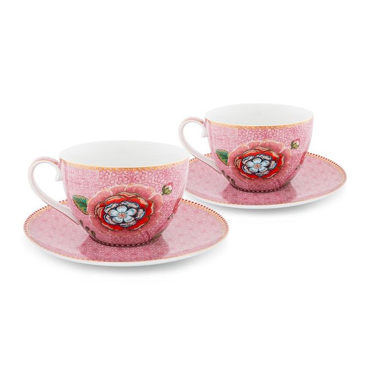Cappuccinokoppar 2-pack med fat rosa- PIP STUDIO