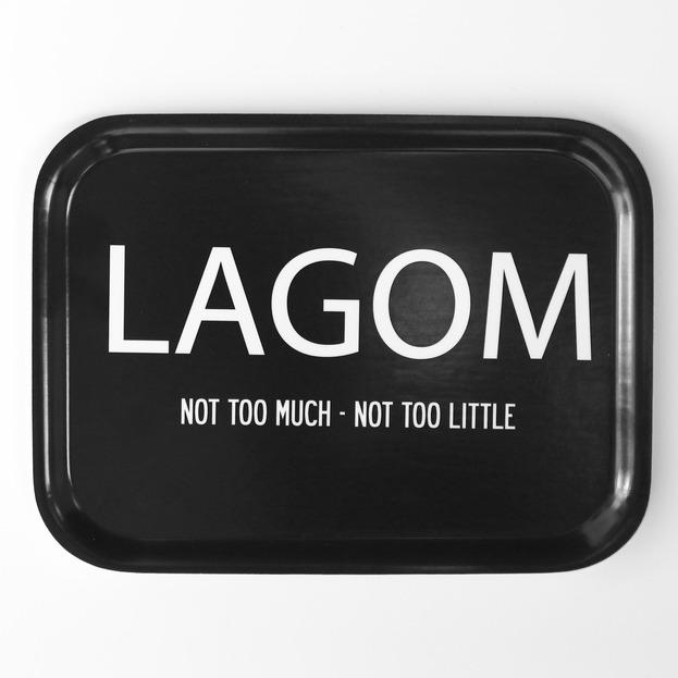Bricka Lagom svart-I LOVE DESIGN