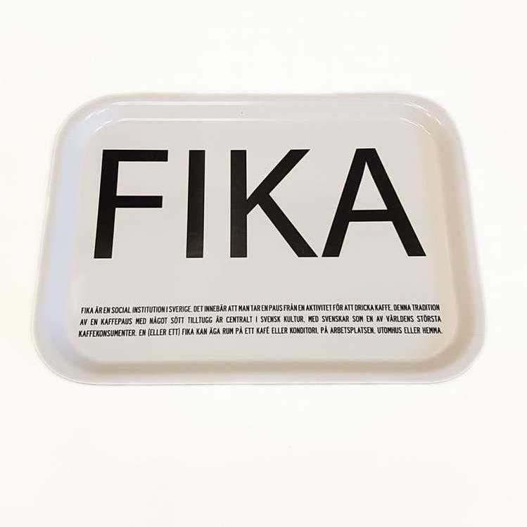 Bricka vit-FIKA