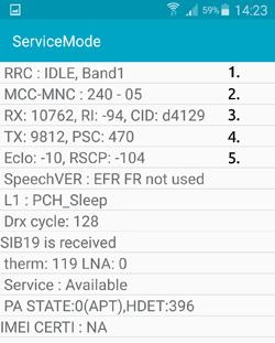 Service mode på Samsung