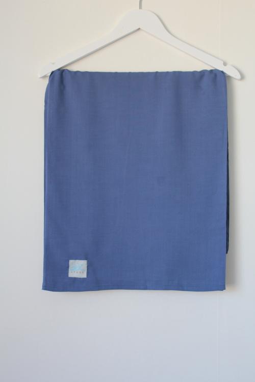 XL-hijab i bomullslinne -blågrå