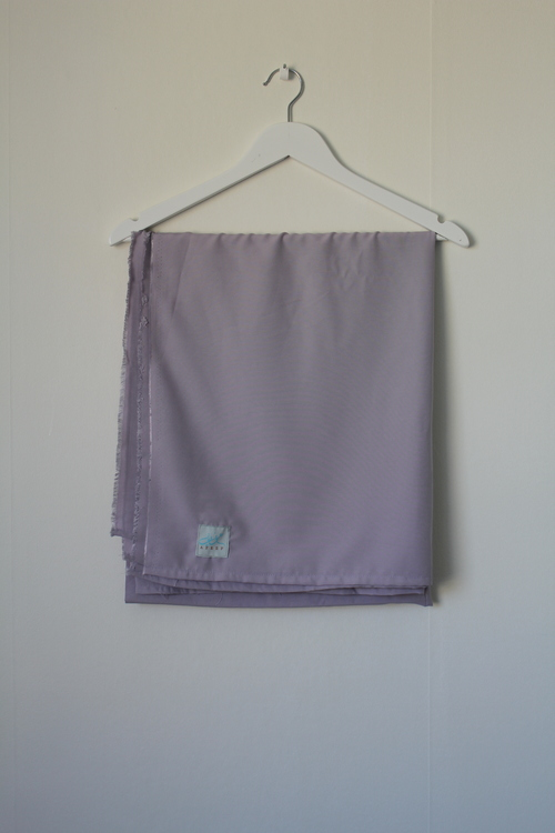 XL-hijab i bomullslinne - ljusgrå