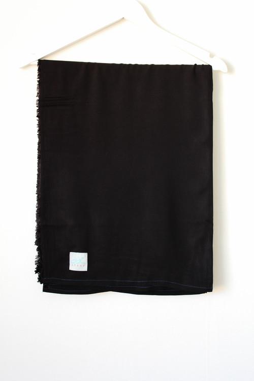 XL Hijab i Bomullslinne - Black