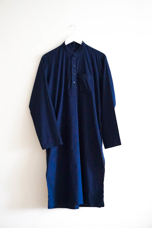 The Traditional Pakistani Qamees incl. trousers -Dark Blue