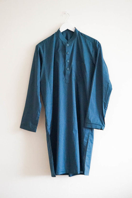 The Traditional Pakistani Qamees incl. trousers - Petroleum Blue
