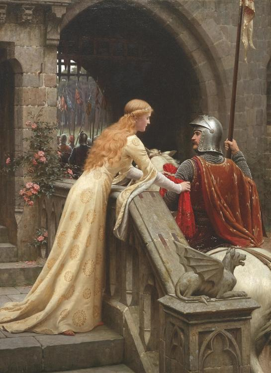 GOD SPEED av Edmund Blair Leighton