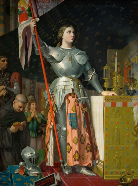 JEANNE D´ARC av Jean Auguste Dominique Ingres