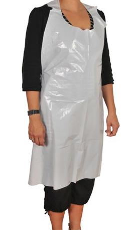 Plastförkläde 100 st styckvikta