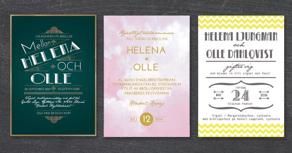 Digitala bröllopsinbjudningar