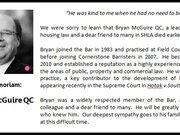 In memoriam: Bryan McGuire QC