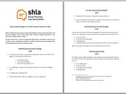 Sponsorship Packages for SHLA Annual Conference 2016
