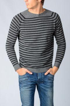 Striped Cashmere Blend Sweater