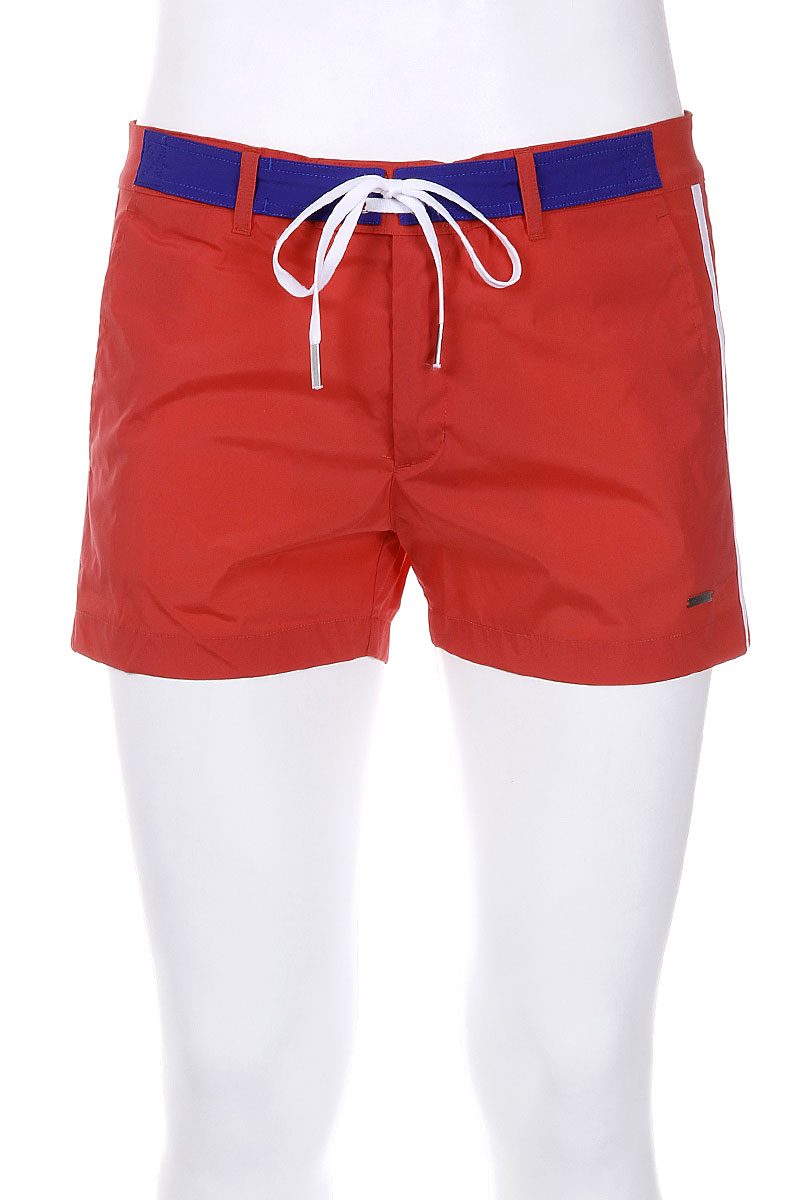 Solid Color Stretch Swim Shorts