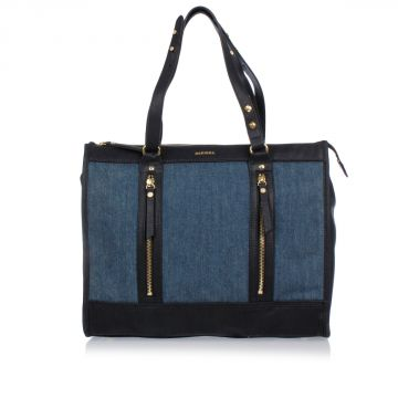 Borsa A Spalla in Denim CENNYA