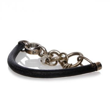 MM11 Leather and Brass Bracelet