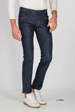 Jeans in Denim di Cotone Elasticizzato 17 cm