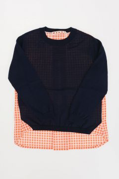 Pullover in cotone a Girocollo