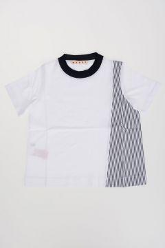 T-Shirt in Jersey e Popeline di Cotone