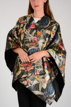 Flowered Poncho
