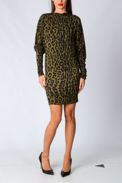Stretch Leo Printed Dress