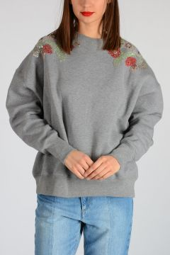 Embroidery Beads and Sequins Sweatshirt