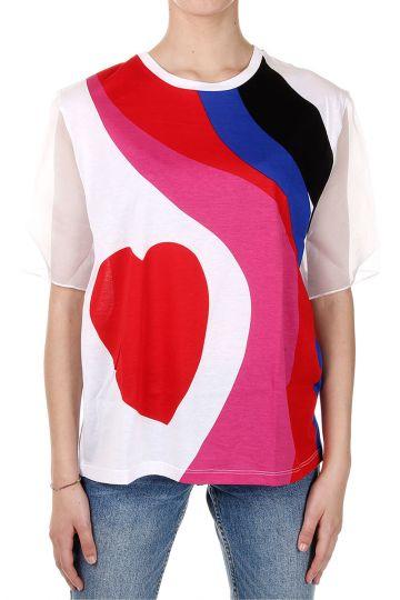 T-Shirt con Stampa Multicolor