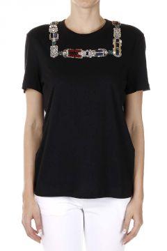 T-Shirt con Inserti Gioiello
