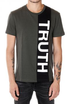T-Shirt in Jersey Con Stampa TRUTH